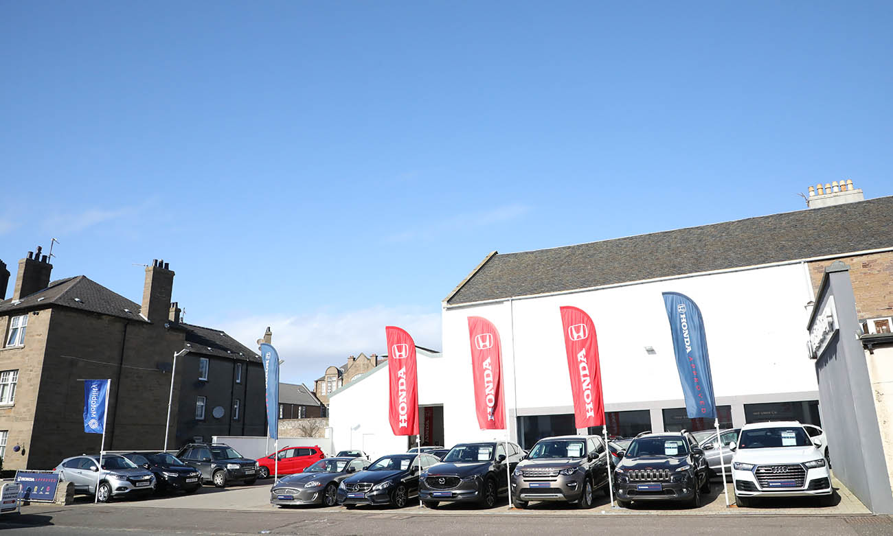 Car dealership forecourt planning permission for West End Honda in Broughty Ferry Angus